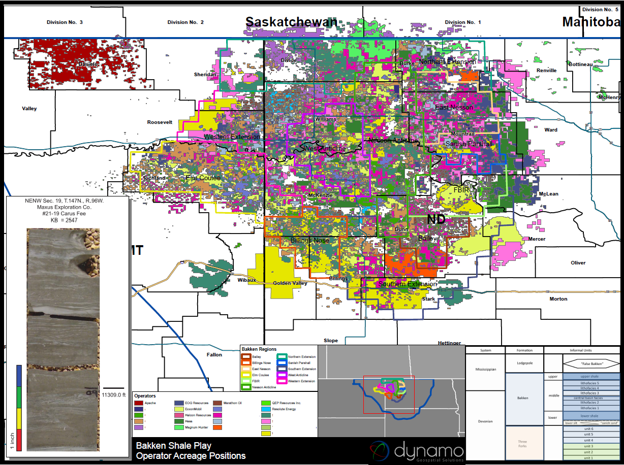 Bakken Shale Amp Three Forks Maps And Gis Areas Of Lease